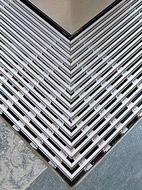 Arbonia Ascotherm eco Unterflurkonvektoren - Detail - Gehrungsschnitt