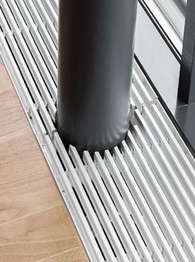 Arbonia Ascotherm eco Unterflurkonvektoren - Detail - Säulenschnitt