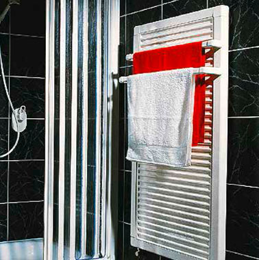 Eines der ersten Kermi Flachheizkörper-Modelle speziell für Badezimmer (1989)