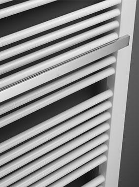 Handtuchbügel seitlich offen verchromt für Kermi Credo-Duo Design- und Badheizkörper