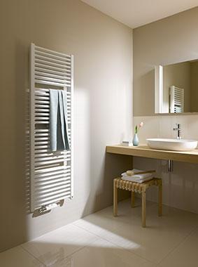 Kermi Duett Design- und Badheizkörper - klassisches Badwärme-Design mit Doppel-Power