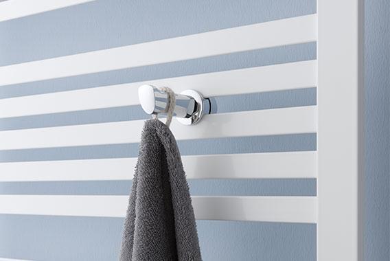 Handtuchhaken für Kermi Geneo quadris Design- und Badheizkörper