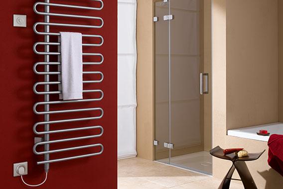Kermi Icaro-E Design- und Badheizkörper im reinen Elektrobetrieb mit Elektro-Set WKS