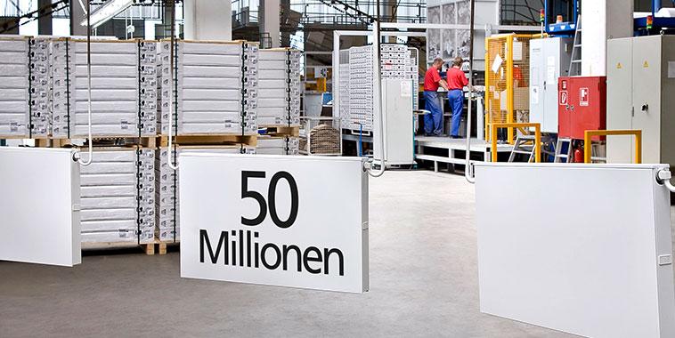 50 Millionen verkaufte Kermi Heizkörper