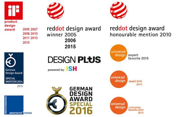 verschiedene Designpreise